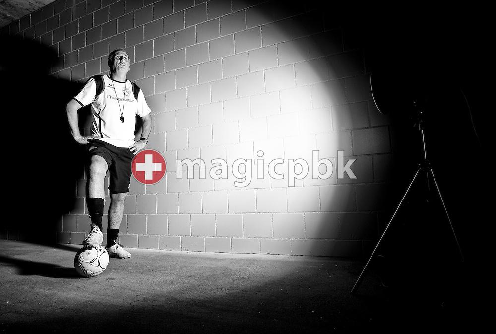 FC Thun head coach Bernard CHALLANDES of Switzerland poses during a portrait session at the Arena Thun in Thun, Switzerland, Friday, Aug. 19, 2011. (Photo by Patrick B. Kraemer / MAGICPBK)