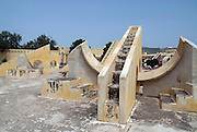 India, Rajasthan, Jaipur The Jantar Mantar observatory