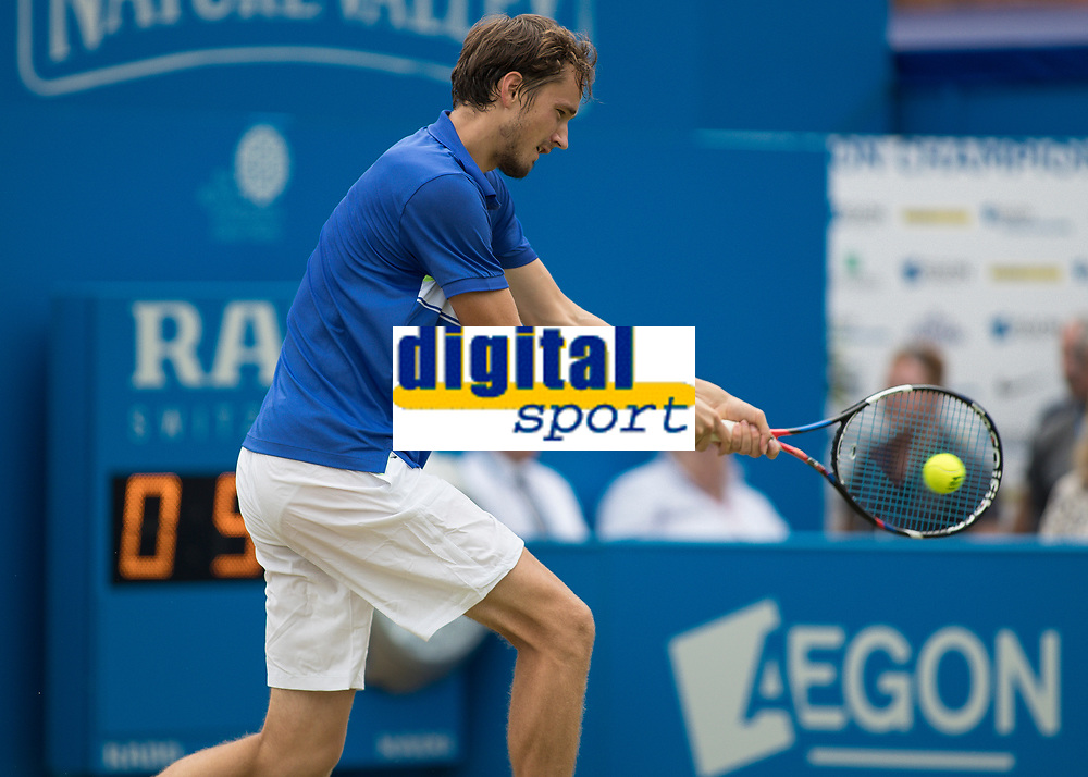 Tennis - 2017 Aegon Championships [Queen's Club Championship] - Day Four, Thursday <br /> <br /> Men's Singles: Round of 16 - Daniil MEDVEDEV (RUS) Vs Thanasi KOKKINAKIS (AUS)<br /> <br /> Danil Medvedev (RUS) at Queens Club<br /> <br /> COLORSPORT/DANIEL BEARHAM
