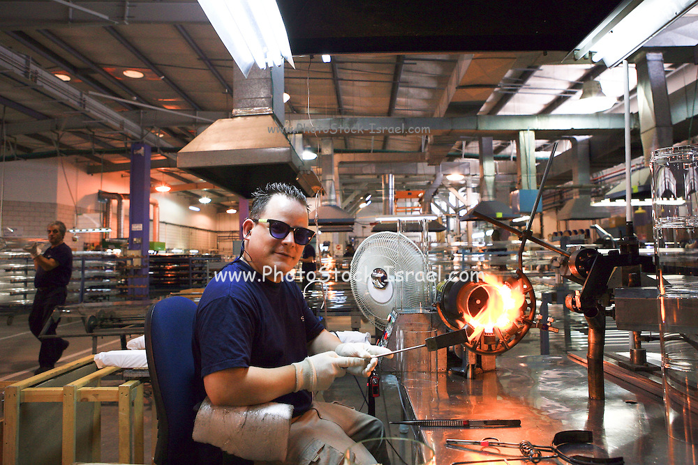 Israel, Bet Shemesh, Interior of Solel's manufacturing facility. Solel Industries is a manufacturer of solar collectors for solar fields in the world. In Israel, however the building of a solar field is being delayd.