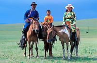 Mongolie, Province du Khentii, Nomades // Mongolia, Khentii province, nomad familly