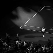 Roger Federer, Switzerland, enters Arthur Ashe Stadium for his match against Stan Wawrinka, Switzerland in the Men's Singles Semifinals during the US Open Tennis Tournament, Flushing, New York, USA. 11th September 2015. Photo Tim Clayton