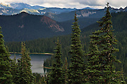 Dewey Lake in the William O Douglas Wilderness, Wenatchee National Forest south of Chinook Pass viewed from the Pacific Crest Trail.