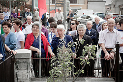 Rionero in V. (PZ) Italy 24 settembre 2011 - Commemorazione dell'eccidio nazifascista del 24 settembre 1943 quando 16 cittadini rioneresi furono fucilati a causa del ferimento di un soldato italiano. Foto Giovanni Marino