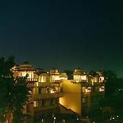 The luxurious Jai Mahal Palace gardens  and hotel.