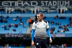 Jamie Vardy of Leicester City warms up - Mandatory by-line: Matt McNulty/JMP - 13/05/2017 - FOOTBALL - Etihad Stadium - Manchester, England - Manchester City v Leicester City - Premier League