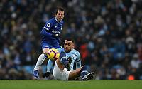 Football - 2018 / 2019 Premier League - Manchester City vs. Everton<br /> <br /> Nicolas Otamendi of Manchester City and Bernard of Everton at The Etihad.<br /> <br /> COLORSPORT/LYNNE CAMERON