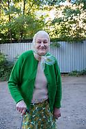 Raisa, age 80, in Sloviansk, Ukraine. Due to the conflict between the Ukrainian government and separatists, Raisa and her husband fled their hometown of Debaltsevo on 25 June 2015.<br /><br />(October 2, 2015)