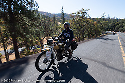 Paul Jacobson riding his 1913 Thor in the Motorcycle Cannonball coast to coast vintage run. Stage 15  (51 miles - the Grand Finish) from The Dalles to Stevenson, OR. Sunday September 23, 2018. Photography ©2018 Michael Lichter.