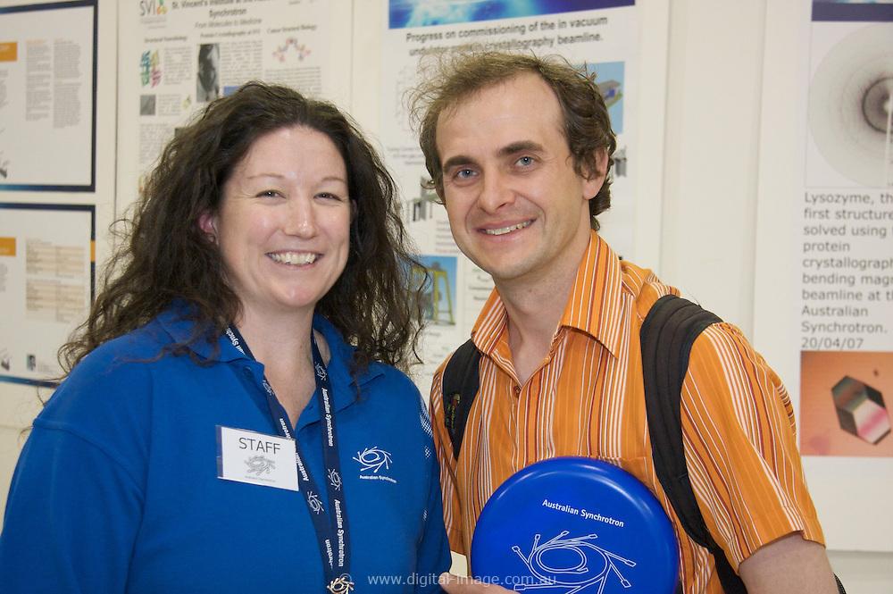 Australian Synchrotron Open Day 2008, Amanda Kirby with Andre Kozlowski, Andre has a background in Physics.