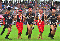 August 15, 2017 - Dimapur, Nagaland, India - Yimchungar Naga performs a dance during the 70th India Independence day celebration in Dimapur, India north eastern state of Nagaland. (Credit Image: © Caisii Mao/NurPhoto via ZUMA Press)