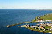 Nederland, Friesland, Stavoren, 28-02-2016; Starum of Staveren, haven en jachthaven. Voormalige Hanzestad, een van de Friese elf steden.<br /> Small Frisian harbour town at IJsselmeer. <br /> <br /> luchtfoto (toeslag op standard tarieven);<br /> aerial photo (additional fee required);<br /> copyright foto/photo Siebe Swart