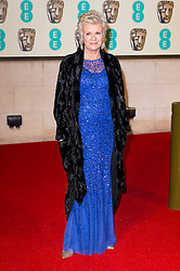 © Licensed to London News Pictures. 14/02/2016. London, UK. JULIE WALTERS arrives on the red carpet for the EE British Academy Film Awards 2016 after party held at Grosvenor House . London, UK. Photo credit: Ray Tang/LNPPhoto credit: Ray Tang/LNP