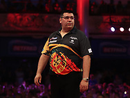 Jose de Sousa during the PDC BetVictor World Matchplay Darts 2021 tournament at Winter Gardens, Blackpool, United Kingdom on 21 July 2021.