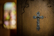 A crucifix in the sacristy on Saturday, Jan. 16, 2021, at Zion Lutheran Church, Fort Wayne, Indiana. LCMS Communications/Erik M. Lunsford