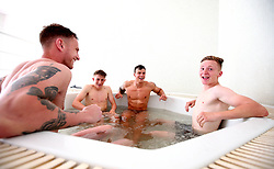Bristol Rovers players take an ice bath after training on their first day in Portugal - Mandatory by-line: Robbie Stephenson/JMP - 18/07/2017 - FOOTBALL - Colina Verde Golf & Sports Resort - Moncarapacho, England - Sky Bet League One