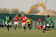 Emirates airline Dubai sevens 2008, The Urdd U19 team from Wales in action during their first match against Doverie. you may purchase a copy of this photo for personal use. a variety of photo sizes are available. Add to cart to order