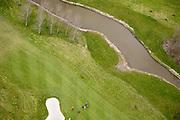 Nederland, Noord-Holland, Heemskerk, 16-04-2008; detail van het terrein van de Heemskerkse golfclub in de polder ten oosten van Beverwijk en Heemskerk; green, club, balspel..luchtfoto (toeslag); aerial photo (additional fee required); .foto Siebe Swart / photo Siebe Swart.