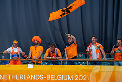 Orange support in action during Netherlands - Argentina, FIVB U20 Women's World Championship on July 10, 2021 in Rotterdam
