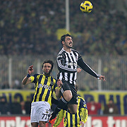 Fenerbahce's Gokhan GONUL (R) during their Turkish Superleague Derby match Besiktas between Fenerbahce at the Inonu Stadium at Dolmabahce in Istanbul Turkey on Sunday, 20 February 2011. Photo by TURKPIX