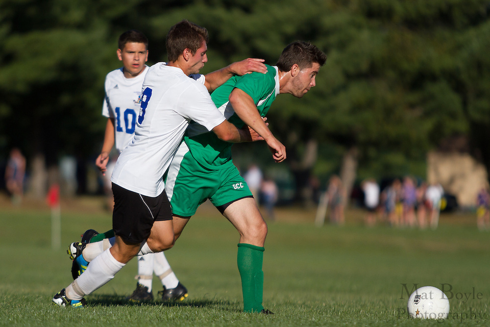 Gloucester County College Mens Soccer hosts Ocean County College in Sewell, NJ on Thursday September 20, 2012. (photo / Mat Boyle)