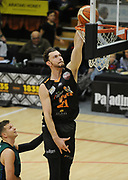 Taylor Hawks Angus Brandt puts up a shot in the Sal's Pizza NBL Round 8 match, Hawkes Bay Hawks vs Auckland Rangers, Pettigrew Green Arena, Napier, Saturday, June 16, 2018. Copyright photo: Kerry Marshall / www.photosport.nz