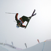 Boen Ferguson, Australia, in action during the Freeski Halfpipe event at the Winter Games at Cardrona, Wanaka, New Zealand. 17th August 2011. Photo Tim Clayton...