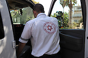 Magen David Adom, Israel's national emergency medical, disaster, ambulance and blood bank service.