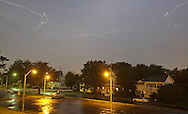 Middletown, NY - Lightning in the sky during a summer thunderstorm on the night of July 25, 2009.
