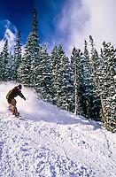 Snowboarding, Breckenridge ski resort, Colorado USA