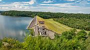 Dobczyce, 2020-05-09.  Zapora na rzece Raba i widok na Jezioro Dobczyckie.