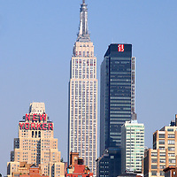 USA, New York, New York City. Scenic skyline of Manhattan Island.