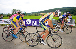 Domen Verac, Uros Silar, and Kristjan Koren at Slovenian National Championships in Road cycling, 178 km, on June 28 2009, in Mirna Pec, Slovenia. (Photo by Vid Ponikvar / Sportida)