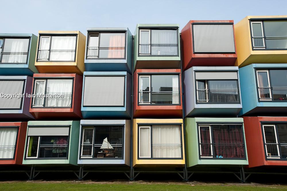 Modular Spacebox student housing at Utrecht University in Netherlands; Architect: Mart de Jong, Architectenbureau De Vijf