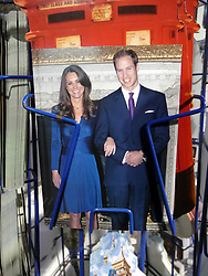 © under license to London News Pictures.  .William and Kate souvenirs ahead of the Royal Wedding in April 2011..Postcards of the Royal Couple..Photo credit should read Craig Shepheard / London News Pictures