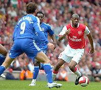 Photo: Ed Godden/Sportsbeat Images.<br /> Arsenal v Chelsea. The Barclays Premiership. 06/05/2007.<br /> Abou Diaby with the ball for Arsenal.