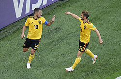 July 14, 2018 - Saint Petersbourg, Russie - SAINT PETERSBURG, RUSSIA - JULY 14 :Eden Hazard midfielder of Belgium & Dries Mertens forward of Belgium during the FIFA 2018 World Cup Russia Play-off for third place match between Belgium and England at the Saint Petersburg Stadium on July 14, 2018 in Saint Petersburg, Russia, 14/07/18 (Credit Image: © Panoramic via ZUMA Press)