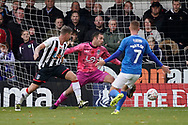 Goal, Jamal Lowe of Portsmouth scores, Maidenhead United 0-3 Portsmouth during the The FA Cup 1st round match between Maidenhead United and Portsmouth at York Road, Maidenhead, United Kingdom on 10 November 2018.