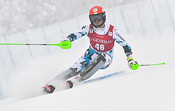 13.11.2016, Black Race Course, Levi, FIN, FIS Weltcup Ski Alpin, Levi, Salalom, Herren, 1. Lauf, im Bild Christian Hirschbuehl (AUT) // Christian Hirschbuehl of Austria in action during 1st run of mens Slalom of FIS ski alpine world cup at the Black Race Course in Levi, Finland on 2016/11/13. EXPA Pictures © 2016, PhotoCredit: EXPA/ Nisse Schmidt<br /> <br /> *****ATTENTION - OUT of SWE*****