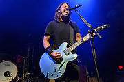 WASHINGTON, DC - May 5th, 2014 - Dave Grohl of the Foo Fighters performs at the 9:30 Club in Washington D.C. as part of the birthday celebration for Big Tony of Trouble Funk. Grohl hosted the event, played drums with during a set with members of Scream and Bad Brains as well as performing a full set with the Foo Fighters. (Photo by Kyle Gustafson / For The Washington Post)