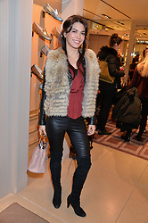 LOHRALEE ASTOR at a Valentine's Ladies breakfast hosted by Tod's and Carolina Bonfiglio at the Tod's boutique in New Bond Street, London on 10th February 2015.