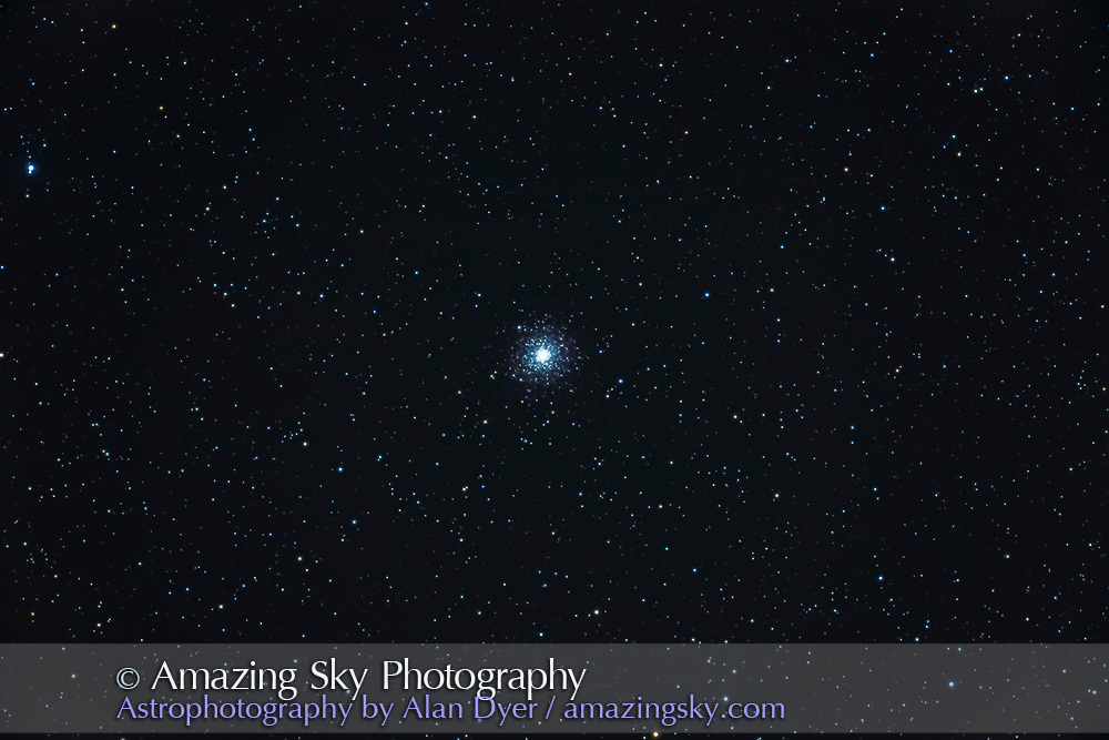 The globular cluster M2 in Aquarius, taken Dec 5, 2020 from home with the object low in the southwest, so the image is soft with poor seeing.<br /><br />This is a stack of 6 x 8-minute exposures with the 130mm f/6 AP reffractor and Canon 6D MkII with LENR on and with 6x7 field flattener..