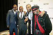 l to r: Dougie Fresh, Andre Harrell, Londell McMillian and Kangol Kid  at Ne-Yo's 30th Birthday Party held at Cipariani's on 42 Street on October 17, 2009 in New York City