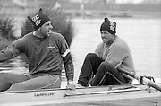 Staines, GREAT BRITAIN,   <br /> left. Steve REDGRAVE and Andy HOLMES, British Rowing Men's Heavy Weight Assessment. Thorpe Park. Sunday 27.02.1987,<br /> <br /> [Mandatory Credit, Peter Spurrier / Intersport-images] 1987 GBR Men's H/Weight 3rd Assessment Thorpe Park, Surrey. UK