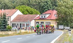 04.07.2017, Pöggstall, AUT, Ö-Tour, Österreich Radrundfahrt 2017, 2. Etappe von Wien nach Pöggstall (199,6km), im Bild Matija Kvasina (CRO, Team Felbermayr Simplon Wels), Peloton // during the 2nd stage from Vienna to Pöggstall (199,6km) of 2017 Tour of Austria. Pöggstall, Austria on 2017/07/04. EXPA Pictures © 2017, PhotoCredit: EXPA/ JFK