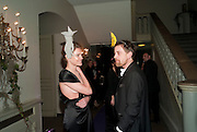 NATALIA VODIANOVA; SCOTT DOUGLAS, The Surrealist Ball in aid of the NSPCC. Hosted by Lucy Yeomans and Harry Blain. Banqueting House. Whitehall. 17 March 2011. -DO NOT ARCHIVE-© Copyright Photograph by Dafydd Jones. 248 Clapham Rd. London SW9 0PZ. Tel 0207 820 0771. www.dafjones.com.