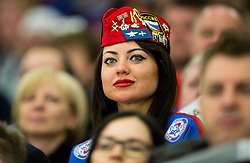 Fan of Russia during Ice Hockey match between Russia and USA at Day 4 in Group B of 2015 IIHF World Championship, on May 4, 2015 in CEZ Arena, Ostrava, Czech Republic. Photo by Vid Ponikvar / Sportida