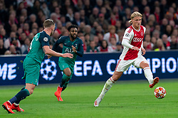 08-05-2019 NED: Semi Final Champions League AFC Ajax - Tottenham Hotspur, Amsterdam<br /> After a dramatic ending, Ajax has not been able to reach the final of the Champions League. In the final second Tottenham Hotspur scored 3-2 / Kasper Dolberg #25 of Ajax