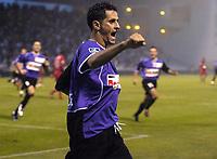 Fotball<br /> Frankrike 2004/05<br /> Istres v Paris Saint Germain<br /> 11. september 2004<br /> Foto: Digitalsport<br /> NORWAY ONLY<br /> JOY RAFIK SAIFI (IST) AFTER HIS GOAL