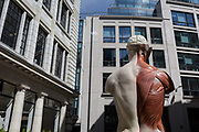 As part of the annual Art in the City in the City of London, the artwork entitled Temple 2008 by Damien Hirst occupies a public space in Lime Street in the heart of the capitals financial district, on 26th June 2017 in the City of London, England.